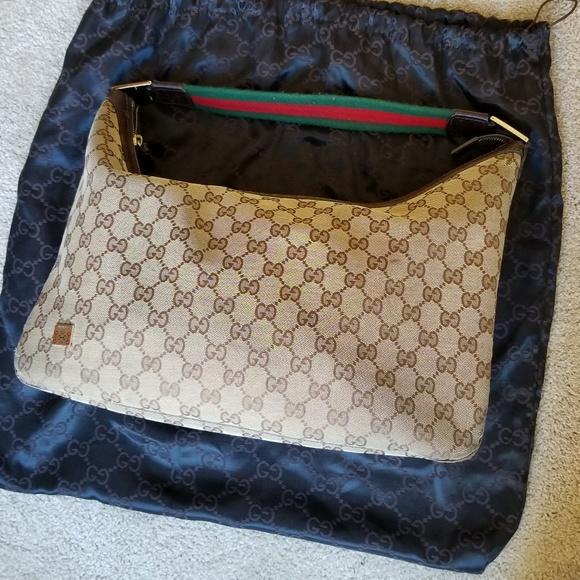 5e3c21834d1f Gucci Bags | Hobo Canvas Shoulder Bag With Signature Gg | Poshmark